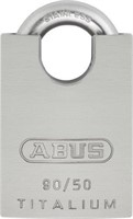 Abus 90/50 KA Titalium 50mm Body with Stainless