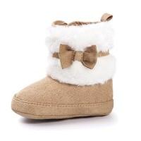Estamico Baby Girl Plush Winter Snow Bowknot Boots
