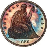 GEM MATCHED ORIGINAL 1859 PROOF SET