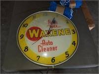 Vintage lighted Waxene clock