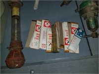 vintage oil change stickers