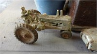 Metal toy tractor