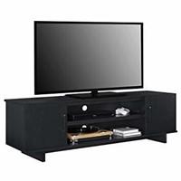 """Southlander TV Stand for TVs up to 65"""", Black Oak"""