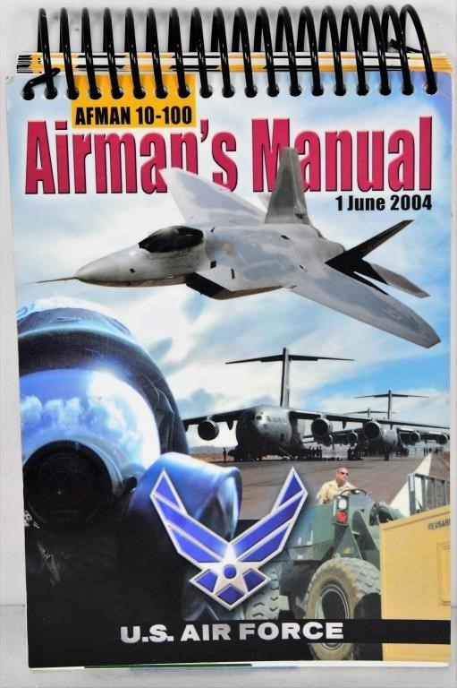 AIRMAN'S MANUAL AFMAN 10-100 Spiral-bound – 2004 | Brand Used Works