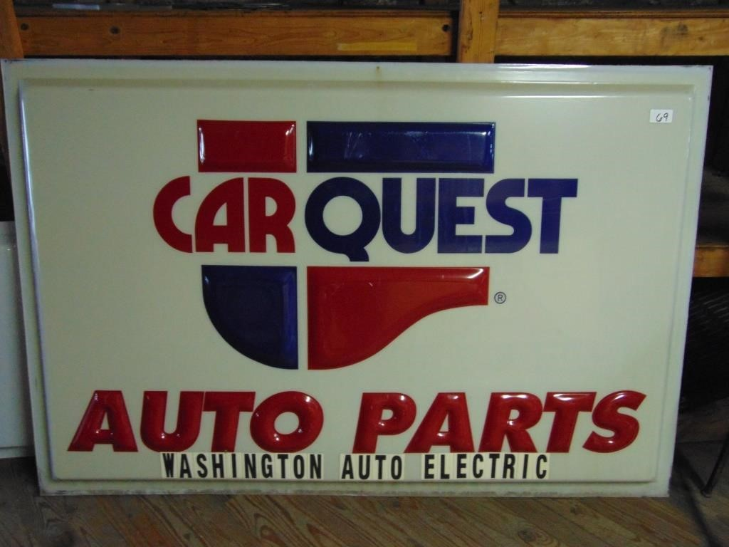 Carquest Auto Parts Near Me >> Carquest Auto Parts Sign Plastic Graber Auctions
