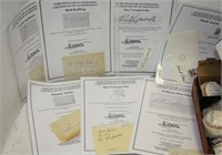 LOT OF 7 BASEBALL AUTOGRAPHS MOSTLY BY HALL OF