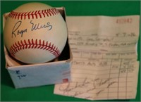 ROGER MARIS SIGNED RAWLINGS OFFICIAL NATIONAL