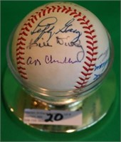 HALL OF FAME SIGNED BASEBALL TO INCLUDE TED
