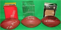 LOT OF 3 WILSON AUTOGRAPHED NFL FOOTBALLS TO