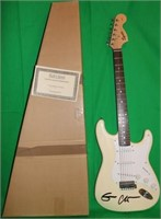 FENDER SQUIER GUITAR SIGNED BY ERIC CLAPTON, MINT