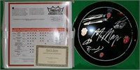 ROLLING STONES REMO AUTOGRAPHED DRUM HEAD, SIGNED