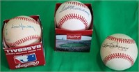 LOT OF 3 RED SOX SIGNED RAWLINGS BASEBALLS TO