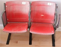 """AUTHENTIC SEATS FROM DODGER STADIUM, 29 1/2"""" HIGH"""