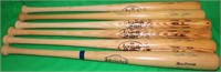 LOT OF 6 SIGNED PETE ROSE BASEBALL BATS. FIVE ARE