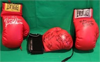 3 SIGNED EVERLAST BOXING GLOVES, ONE SIGNED BY