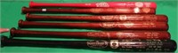 5 HALL OF FAME LOUISVILLE SLUGGER BATS WITH HALL
