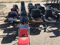 Assorted- Office Chairs, Stack Chairs