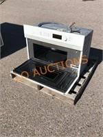 GE White Microwave