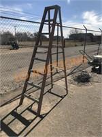 8FT Red Fiberglass Ladder