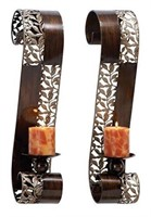 DECO METAL CANDLE SCONCE SET OF 2