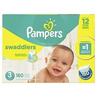 PAMPERS SWADDLERS DIAPERS 160 COUNT SIZE 3