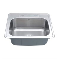 KRAUS 25 INCH TOPMOUNT SINGLE BOWL STAINLESS