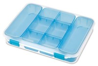TOTAL OF 5 PCS STELITE 8 COMPARTMENT DIVIDED CASE