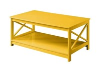 CONVENIENCE CONCEPTS YELLOW COFFEE TABLE,