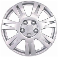 "15"" SILVER REPLICA WHEEL COVERS, SET OF 4"