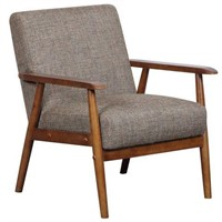 MID CENTURY MODERN WOOD FRAME ACCENT CHAIR