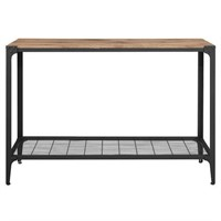 WALKER EDISON ANGLE IRON RUSTIC WOOD SOFA TABLE
