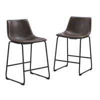 """26"""" FAUX LEATHER COUNTER STOOL  (NOT ASSEMBLED)"""
