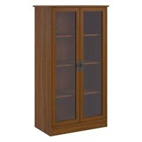 AMERIWOOD GLASS DOOR BOOKCASE( NOT ASSEMBLED)