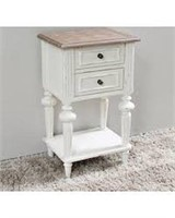 2-DRAWER SIDE TABLE(NOT ASSEMBLED)