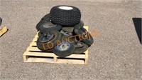 Pallet of Small Rims and Tires