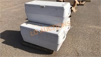 3pc Rubbermaid White Coolers