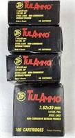 ~400 Rounds TulAmmo 7.62 x 39mm Ammunition