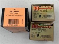 100 Rounds .357 Magnum 125 grain Ammunition