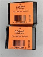 100 Rounds HSM 5.56x45 55 grain Ammunition