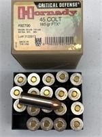 20 Rounds Hornady .45 Colt Ammunition