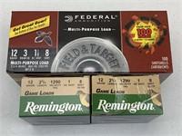 140+ Rounds Federal/Remington 12 Gauge Ammunition