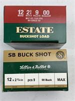 50 Rounds 12 Gauge 00 Buckshot Shotshells