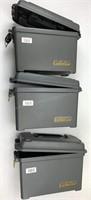 3pc Cabela's Plastic Stacking Dry Storage Ammo Box