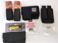 Ammo pouches, magazine holsters, belt