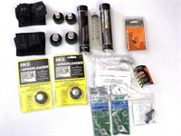 Speed loaders, grease, canvas case, miscellaneous