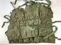 4pc Green cotton canvas magazine holsters