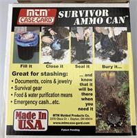 Underground ammo can storage
