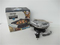 """""""As Is"""" Aroma Electric Wok 13.5in 5 Quart AEW-306"""