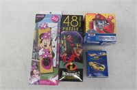 Lot of 4 Various Jigsaw Puzzles