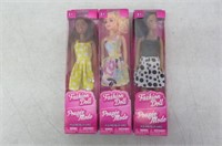 (3) Fashion Barbie Dolls